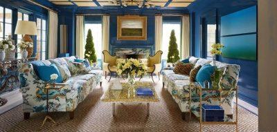 1 Amenajarea livingului clasic colorate albastre 6