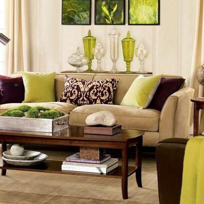 1 Amenajarea livingului clasic colorate verzi 9