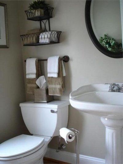 2. Modele de bai mici moderne obiecte sanitare si spatii de depozitat