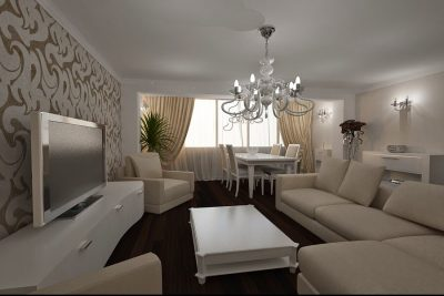 4 Amenajarea livingului clasic la apartament 4