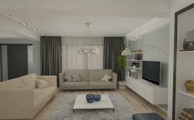 4 Amenajarea livingului clasic la apartament 5