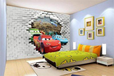 Tapet dormitor 3D Peșteră și Marea 3D (3)