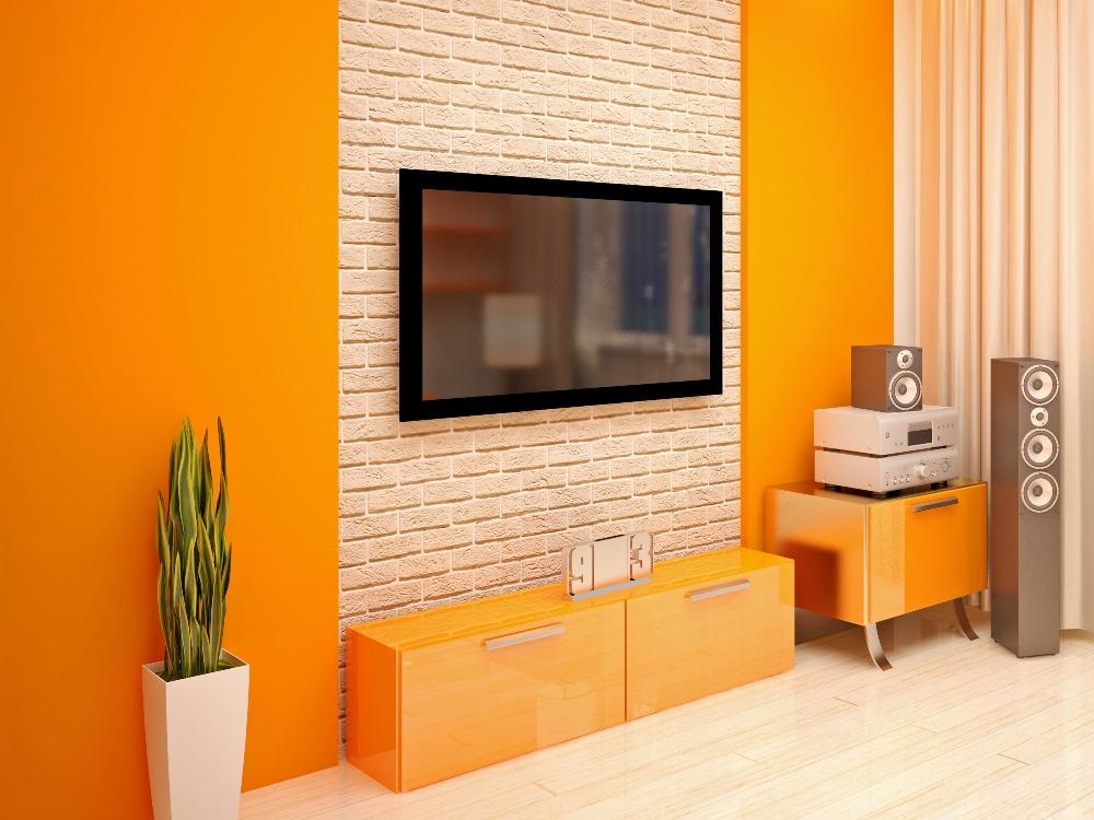 amenajare living in culori calde 2