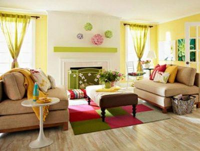 amenajare living in culori calde 3