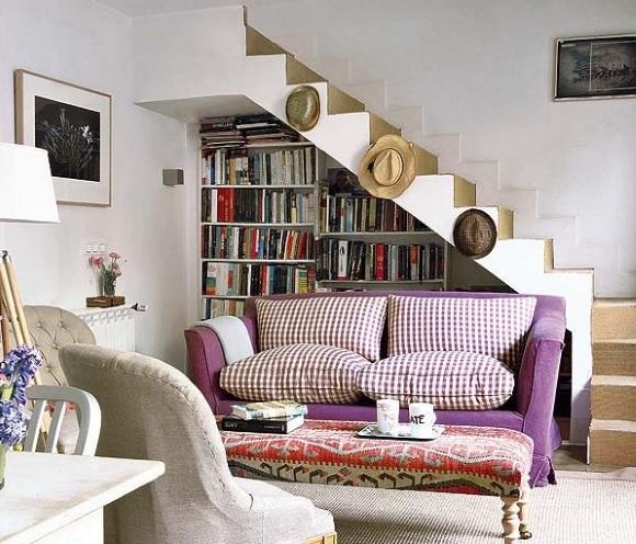 amenajare living la casa cu scara interioara 2