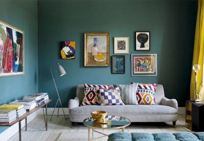 amenajare unui living in culori reci 1