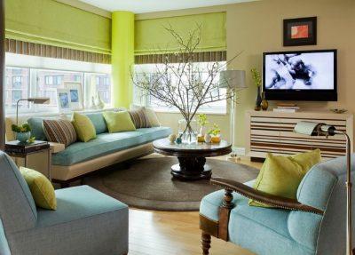 amenajare unui living in culori reci 2