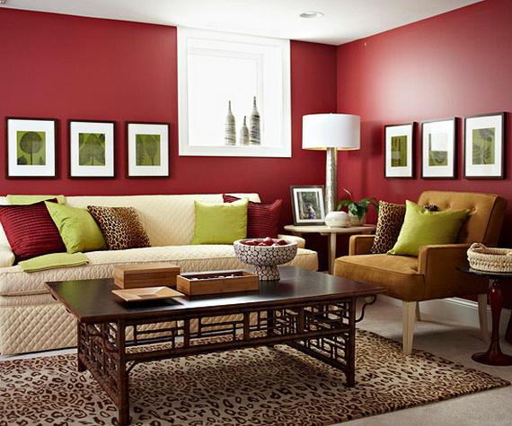 amenajare unui living in culori reci 3