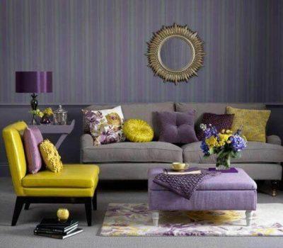 culoare living galben violet albastru3