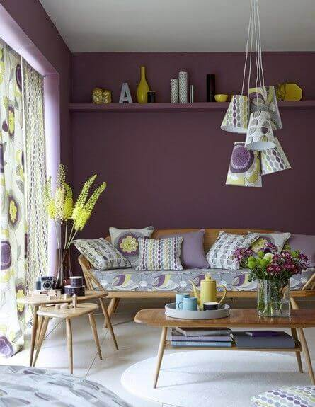 culoare living galben violet albastru5