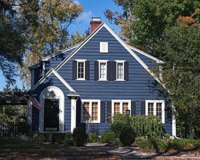 culori casa exterior albastru 1