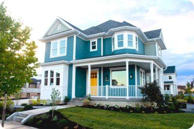 culori casa exterior albastru 2