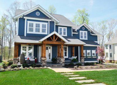 culori casa exterior albastru 4