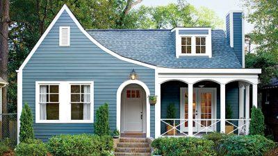 culori casa exterior combinatii alb si albastru 1