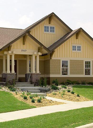 culori casa exterior combinatii galben si maro 2