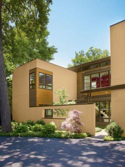 culori casa exterior combinatii galben si maro 3