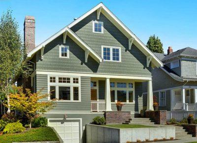 culori casa exterior combinatii verde si alb 2