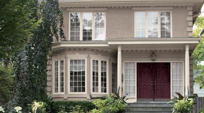 culori casa exterior combinatii visiniu si bej 4
