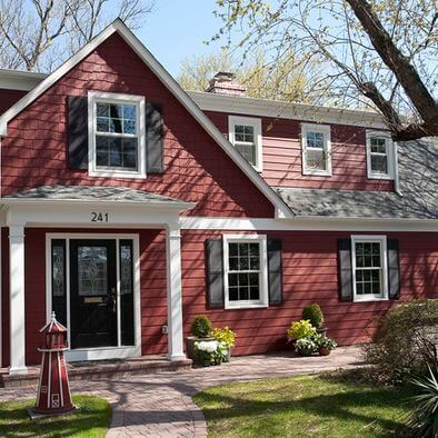 culori casa exterior negru rosu 2