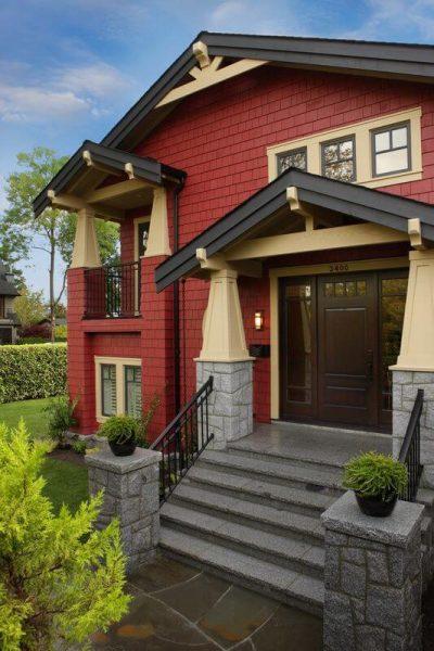 culori casa exterior negru rosu 3