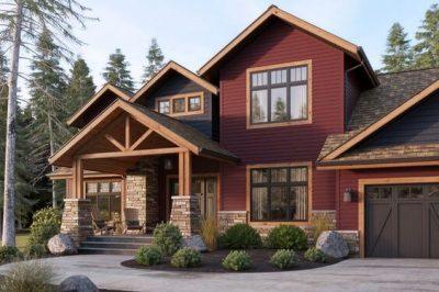 culori casa exterior negru rosu 7