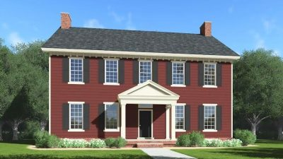 culori casa exterior negru rosu 9