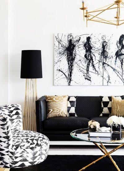 culori living alb negru5