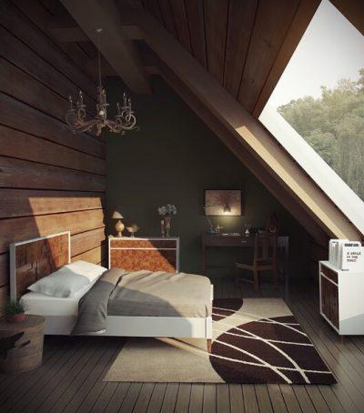 dormitoare moderne la mansarda 4
