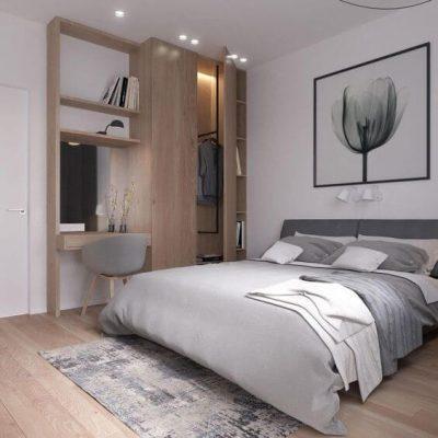 dormitor modern cu lemn 3