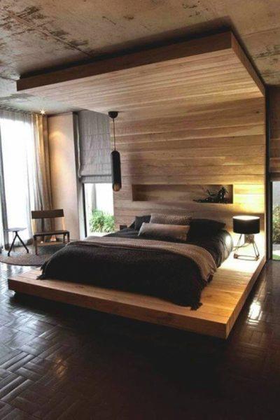 dormitor modern cu lemn 4