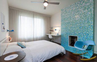 dormitor modern cu mozaic 1