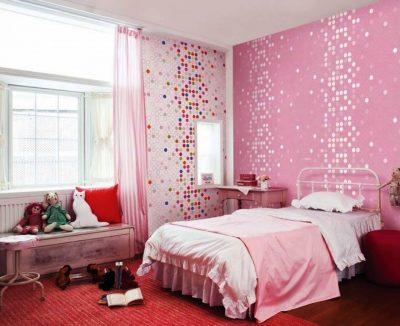 dormitor modern cu mozaic 2