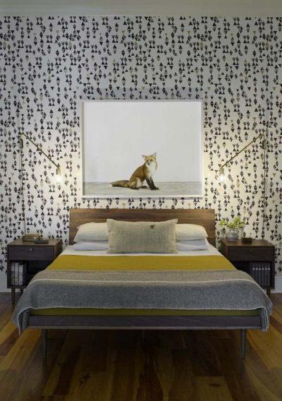dormitor modern cu tapet 2