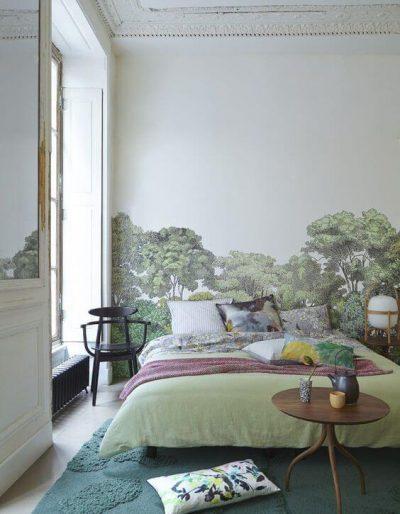 dormitor modern cu tapet 4