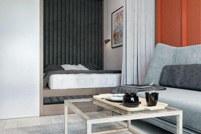 dormitor modern de garsoniera 2