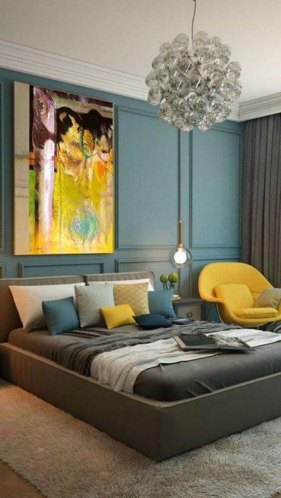 dormitor modern in nuante metalizate de gri 3