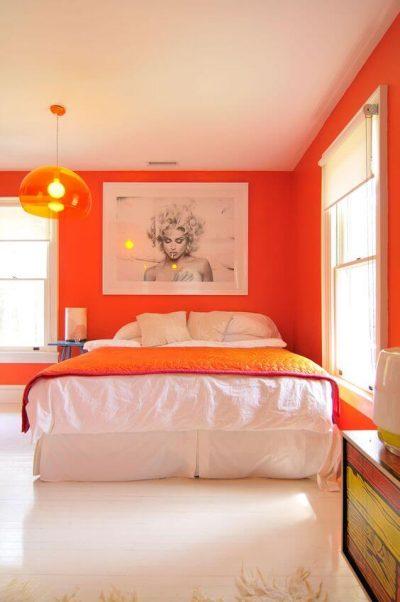 dormitor modern portocaliu 1