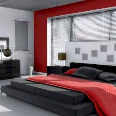 dormitor modern rosu 1