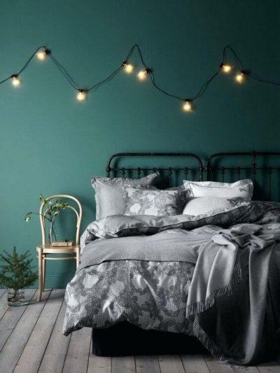 dormitor modern verde inchis 2