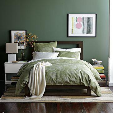 dormitor modern verde inchis 3
