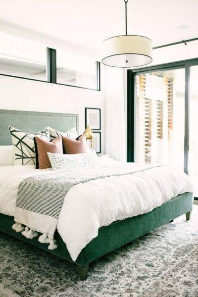 dormitor modern verde inchis 4