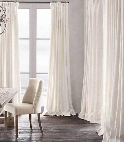 draperii deschise la culoare alb-bej1