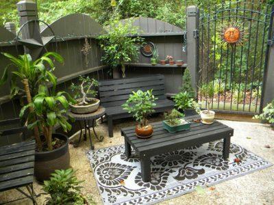 mobilier pentru curtea de la tara - masa si scaune 3