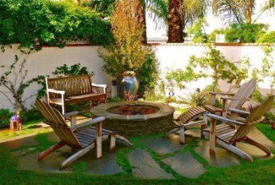 mobilier pentru curtea de la tara - masa si scaune 4