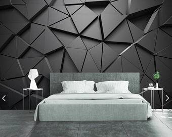 tapet abstract pentru dormitor 2