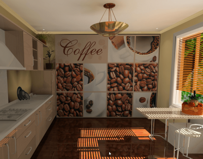 tapet pentru bucatarie cu model coffee 3