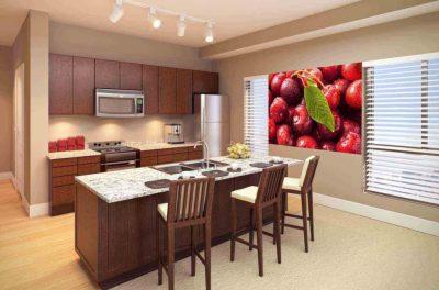 tapet pentru bucatarie cu model de fructe 1