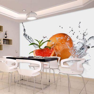 tapet pentru bucatarie cu model de fructe 9