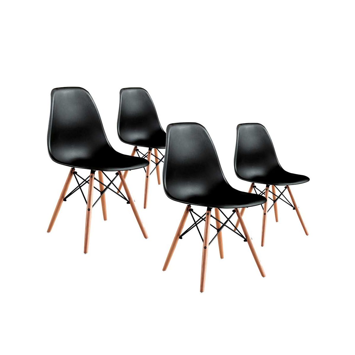 mobila bucatarie scaune negre