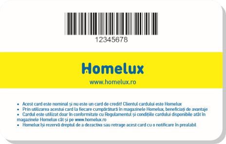 Card Homelux Spate